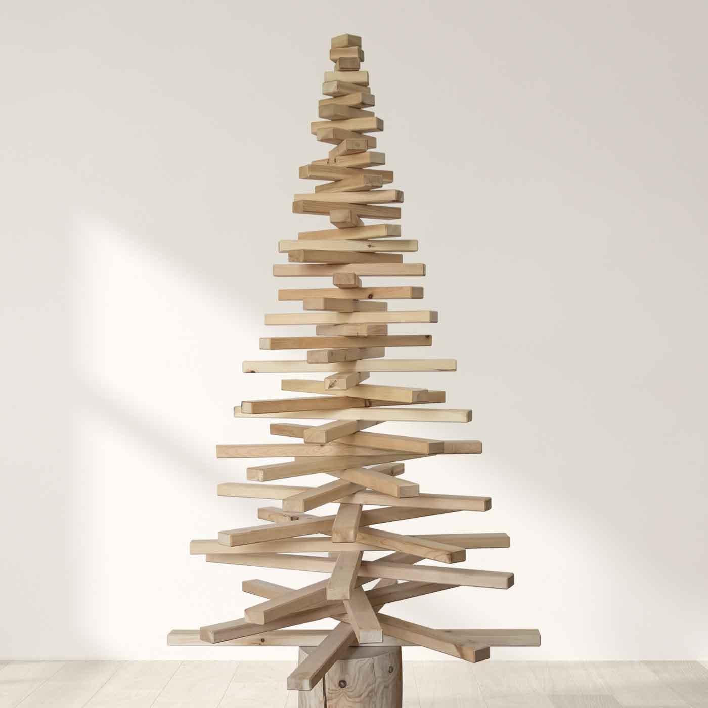 Nachhaltiger Weihnachtsbaum aus Zirben Holz by abacab design